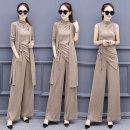 Fashion suit Autumn 2020 M,L,XL,XXL,XXXL,4XL,5XL Brown, off white, black Other / other