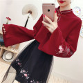Sweater / sweater Spring 2020 S,M,L,XL Long sleeves routine Socket singleton  Thin money stand collar easy Sweet pagoda sleeve Plants and flowers 31% (inclusive) - 50% (inclusive) A button Mori