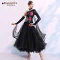 Modern dance suit (including performance clothes) Graceful dancer Waltz, tango, Foxtrot, trot female Rose safflower, red flower S,M,L,XL,XXL,XXXL other MQ296