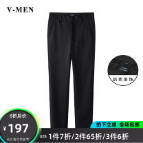 Casual pants V-MEN Youth fashion black 28,29,30,31,32,33,34 trousers Other leisure Self cultivation VK20209510 Cotton 57% polyamide fiber (nylon) 40% polyurethane elastic fiber (spandex) 3%