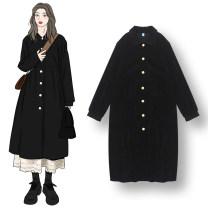 Fashion suit Autumn 2020 Average size Black dress, white skirt 18-25 years old
