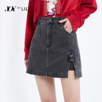 skirt Spring 2021 S M L XL 510 black 510 black a Short skirt commute Natural waist A-line skirt Solid color Type A 25-29 years old 121109G6908510 71% (inclusive) - 80% (inclusive) Lily / Lily cotton Button Ol style Cotton 71.7% polyester 20.8% viscose 6.9% polyurethane elastic 0.6%