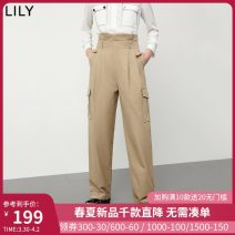 Casual pants 720 wood brown 150/58A/XS 155/62A/S 160/66A/M 165/70A/L 170/74A/XL Summer 2020 trousers Overalls High waist commute routine 25-29 years old 96% and above 120200C5167N Lily / Lily Ol style zipper cotton Cotton 100% Same model in shopping mall (sold online and offline)