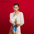 Lace / Chiffon Spring 2021 716 light Khaki XS S M L XL Long sleeves commute Socket singleton  easy Regular Polo collar Decor puff sleeve 25-29 years old Lily / Lily 121110C8224 Bandage Ol style Polyester 100% Same model in shopping mall (sold online and offline)