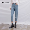 Jeans Spring 2021 XS S M L XL Ninth pants Natural waist Haren pants routine 25-29 years old washing other light colour Lily / Lily Same model in shopping mall (sold online and offline)