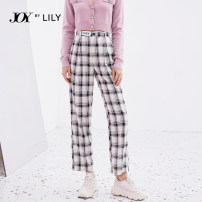 Casual pants 150/58A/XS 155/62A/S 160/66A/M 165/70A/L 170/74A/XL Spring 2021 trousers Wide leg pants High waist commute routine 25-29 years old 51% (inclusive) - 70% (inclusive) Lily / Lily polyester fiber Ol style zipper Same model in shopping mall (sold online and offline)
