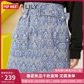 skirt Winter 2020 XS S M L XL Short skirt commute High waist Suit skirt stripe Type H 25-29 years old More than 95% Lily / Lily polyester fiber Ol style Same model in shopping mall (sold online and offline)