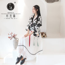 Hanfu 96% and above Spring 2021 Top + short skirt (with sling) / 20 day hair Top + long skirt (with sling) / 20 day hair 155/80A(XS) 160/84A(S) 165/88A(M) 170/92A(L) polyester fiber