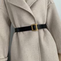 Belt / belt / chain Double skin leather Black, camel female belt Single loop Pin buckle other soft surface 2.3cm alloy alone Aifanpin 100cm