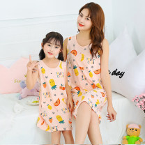 Nightdress Other / other The recommended height is 95-105cm for Size 110, 105-110cm for Size 120, 110-120cm for Size 130, 120-130cm for size 140, 130-140cm for size 150, 140-150cm for size 160, 145-155cm for size 165, 155-160cm for size 170 and 160-165cm for size 175 Cartoon pajamas Middle-skirt