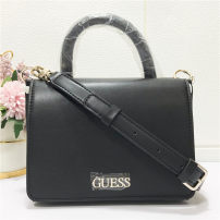 Bag The single shoulder bag PU Small square bag brand new European and American fashion Small leisure time hard Cover type no Solid color Single root One shoulder cross carry Yes youth other rivet Hard handle inside pocket with a zipper Artificial leather Three dimensional bag