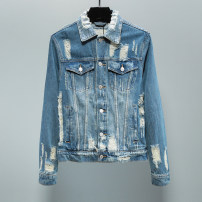 Jacket Other / other Fashion City Denim blue M,L,XL,2XL,3XL thick Self cultivation Other leisure winter P21 Long sleeves Wear out square neck tide youth routine 2017 cotton 80% (inclusive) - 89% (inclusive)