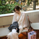 Dress Autumn 2020 Pure white spot, clover top spot, comfort black spot, Diana Rose spot, Diana Rose top spot XXS,XS,S,M More than 95% polyester fiber