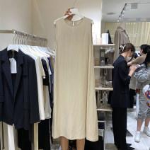 Dress Summer 2021 Black, white, khaki S, M 0409-X1521