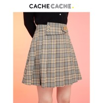 skirt Winter 2020 160/64A/S 165/68A/M 170/72A/L 175/76A/XL Apricot oil / 160 Short skirt commute Natural waist Pleated skirt lattice 18-24 years old 81% (inclusive) - 90% (inclusive) Cache Cache polyester fiber Korean version Same model in shopping mall (sold online and offline)