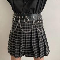 Belt / belt / chain Pu (artificial leather) black female belt Versatile Single loop Youth, youth Pin buckle other Glossy surface 1.9cm alloy alone Liu Wuwei 4 4 circles / dark belt!