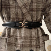 Belt / belt / chain Pu (artificial leather) Black, brown, khaki female belt Versatile Single loop Youth, youth Pin buckle other Glossy surface alloy alone Liu Wuwei
