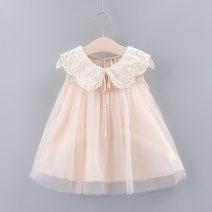 Dress Pink, white female Other / other 73cm,80cm,90cm,100cm Cotton 90% other 10% summer Korean version Skirt / vest Solid color cotton A-line skirt Keninke Class B 12 months, 18 months, 2 years old, 3 years old, 4 years old, 5 years old