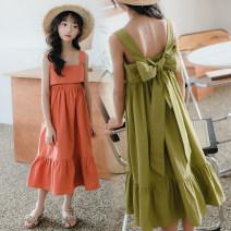 Dress female Keninke 120cm,130cm,140cm,150cm,160cm,165cm Cotton 98% other 2% summer Korean version Skirt / vest Solid color cotton Strapless skirt Class B Chinese Mainland