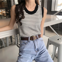Vest sling Summer of 2019 Average size singleton  routine Straight cylinder commute I-shaped lattice 18-24 years old 51% (inclusive) - 70% (inclusive) polyester fiber Other / other 101g / m ^ 2 (including) - 120g / m ^ 2 (including)