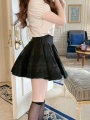 skirt Spring 2021 XS,S,M,L Short skirt High waist A-line skirt Solid color Type A CskCupidsKiss