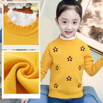 Sweater / sweater 110cm 120cm 130cm 140cm 150cm 160cm cotton female Shengyiqin leisure time No model Socket routine Crew neck nothing Ordinary wool Solid color Class B Long sleeves Winter 2020 winter Chinese Mainland