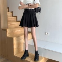 skirt Autumn 2020 S M L Picture color Short skirt commute High waist Pleated skirt Solid color Type A 18-24 years old NqX3S 51% (inclusive) - 70% (inclusive) other Xianweiya polyester fiber Chain fold Korean version Polyester 68.9% cotton 31.1% Pure e-commerce (online only)
