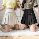 skirt Summer 2021 S,M,L,XL Apricot, black Short skirt Versatile Natural waist A-line skirt Solid color Type A 25-29 years old 31% (inclusive) - 50% (inclusive)