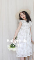 Parent child fashion Chen Zhike's love female other 001 summer Korean version Thin Solid color Cotton 100% Class A Seven, three, six, two, five, four Chinese Mainland 100cm,110cm,120cm,130cm,140cm Floral Dress (in stock), floral dress (in stock at the end of pre-sale month)
