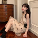 Dress Summer 2021 Gauze dress Average size Short skirt singleton  Sleeveless commute other High waist Solid color other Lantern skirt other camisole 18-24 years old Type A Korean version Splicing