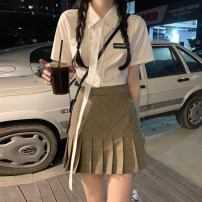 Fashion suit Summer 2021 S. M, l, average size Shirt piece, skirt piece 18-25 years old 30% and below