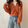 Wool knitwear Spring 2021 Average size White, apricot, orange Long sleeves singleton  Socket Viscose 31% (inclusive) - 50% (inclusive) Regular routine commute easy V-neck routine Solid color Socket 18-24 years old