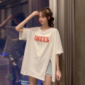 T-shirt Rose red, white Average size Summer 2021 Short sleeve Crew neck easy Medium length routine commute other 30% and below 18-24 years old Korean version youth