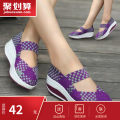 Low top shoes 34,35,36,37,38,39,40 Round head Textile Shake the bottom Middle heel (3-5cm) Shallow mouth No interior Spring 2020 Rocking shoes