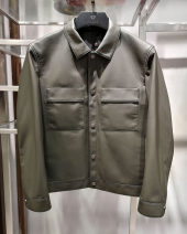 leather clothing Founder / Fang Shi Youth fashion Army green 170/48,175/50,180/52,185/54,190/56 have cash less than that is registered in the accounts Leather clothes Lapel Slim fit Single breasted autumn leisure time youth Sheepskin Business Casual 2020 new short leather garment Cloth hem other