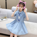 Dress Blue, Khaki female Other / other 110cm,120cm,130cm,140cm,150cm,160cm Other 100% summer Korean version Short sleeve Solid color other Shirt skirt Class B 7, 8, 14, 3, 6, 13, 11, 5, 4, 10, 9, 12 Chinese Mainland Zhejiang Province Huzhou City