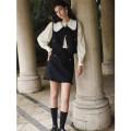 Vest Winter 2020 Black vest, pre-sale, black vest, black skirt, pre-sale, black skirt XS,S,M routine Doll Collar Original design Single breasted other Fold, Ruffle