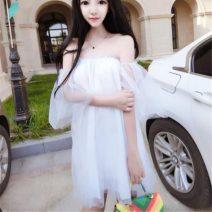 Dress Summer 2021 Gray, white, black Average size Short skirt elbow sleeve One word collar