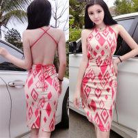 Dress Summer 2021 Picture color S,M,L Short skirt singleton  commute Hanging neck style Korean version