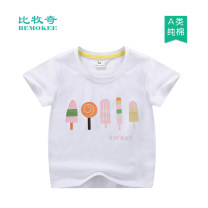 T-shirt Bemokee / bimucci male summer Short sleeve Crew neck Korean version No model nothing cotton Cartoon animation Cotton 100% Class A Sweat absorption 18 months, 2 years old, 3 years old, 4 years old, 5 years old, 6 years old, 7 years old, 8 years old