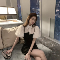 Fashion suit Summer 2020 S,M,L,XL White shirt + suspender skirt 18-25 years old 30% and below