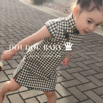cheongsam Cotton 100% Independent brand There are models in the real shooting summer lattice 9 months, 18 months, 2 years old, 3 years old, 4 years old, 5 years old, 6 years old, 7 years old, 8 years old, 9 years old, 10 years old, 11 years old, 12 years old, 13 years old, 14 years old