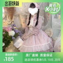 Dress Spring of 2019 One piece OP dress, one piece OP dress + hair band, one piece OP dress + skirt + Hair Band S,M,L stand collar Solid color Princess sleeve 18-24 years old 81% (inclusive) - 90% (inclusive) brocade cotton