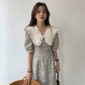 Dress Summer 2021 Graph color Average size Middle-skirt singleton  Sweet Doll Collar High waist Broken flowers puff sleeve 18-24 years old Type A Other / other