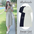Dress Summer 2020 Apricot, Navy, khaki S,M,L,XL Mid length dress singleton  Short sleeve commute Polo collar High waist Solid color Socket A-line skirt routine Others 18-24 years old Type A Korean version 3178# 81% (inclusive) - 90% (inclusive) other