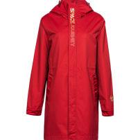 Sports windbreaker Guirenniao female 439 B491092 Detachable cap zipper Brand logo nylon Sports life Waterproof, breathable, wear resistant -1 magma, - 2 Black S(160/84A),M(165/88A),L(170/92A),XL(175/96A),2XL(180/100A),XS(155/80A),3XL(185/104A)