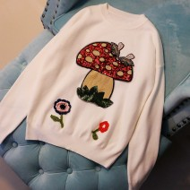 sweater Winter of 2019 S,M,L White, black, blue Long sleeves Socket singleton  Regular wool 30% and below Crew neck Regular Sweet routine other Self cultivation Regular wool Keep warm and warm Sequins wool