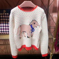 sweater Winter of 2019 S,M,L Picture color Long sleeves Socket singleton  have cash less than that is registered in the accounts wool 30% and below Crew neck Regular Sweet routine Cartoon animation Self cultivation wool