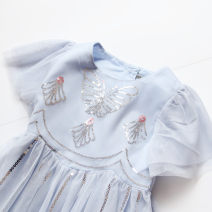 Dress summer Korean version other other Solid color female Other / other 12 months, 18 months, 2 years old, 3 years old, 4 years old, 5 years old, 6 years old, 7 years old, 8 years old, 9 years old, 10 years old, 11 years old, 12 years old, 13 years old, 14 years old Other 100% Short sleeve 191228041