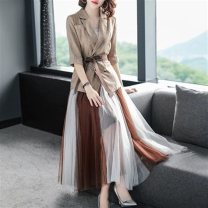 Fashion suit Spring of 2019 S,M,L,XL coffee